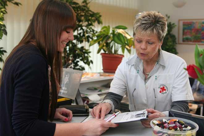Blutspende Anmeldung